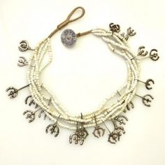 Silver Trident Charms & Glass Beads