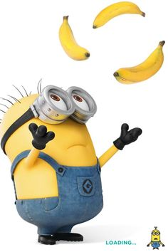 minions with bananas | Pinned by Helena Edwards