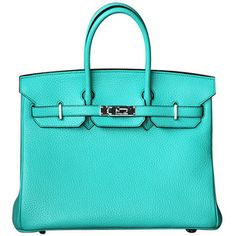 Tiffany Blue Hermes Birkin Bag.    Probably one of the most incredible handbags I've ever seen.