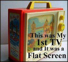 1st Flat Screen TV
