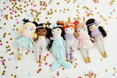 Handmade Blossom Doll - these dolls are super-cute and such a keepsake item for your daughter!