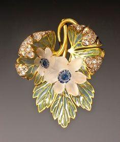René Lalique - Art Nouveau 'Wood anemones' pendant
