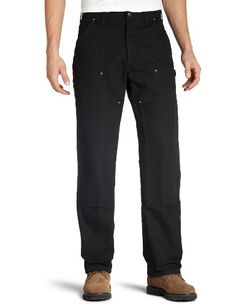 Carhartt Men's Double Front Work Dungaree Washed Duck,Bla...