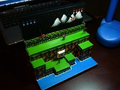 Contra Diorama Geek Room, 8bit Art, Geek Decor, Fusion Beads, Game Themes, Classic Video Games, Nerd, Video Game Art, Shadow Box