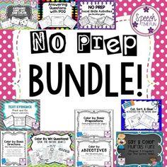 No Prep BUNDLE!! Act