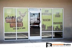 Perforated Vinyl Window Graphics for Urban Mutts in Las Vegas