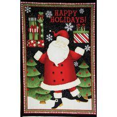 Wilmingon Prints Debbie Mumm Santa's Gifts Santa Claus Panel 24 x 44  --http://www.hancocks-paducah.com/SHOP-BY-BRAND/Santas-Gifts-by-Debbie-Mumm/Wilmingon-Prints-Debbie-Mumm-Santas-Gifts-Santa-Claus-Panel-24-x-44