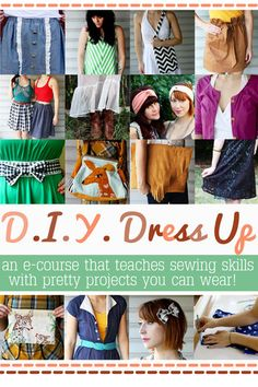 D.I.Y. Dress Up e-course. Pretty projects you can wear. I want to do this!