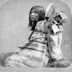 Paiute mother and child - circa 1870