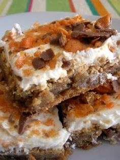 Butterfinger Blondies - Recipes, Dinner Ideas, Healthy Recipes & Food Guide