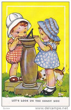 postcard illustrated by Dinah