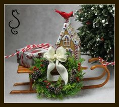 Sled with wreath tutorial