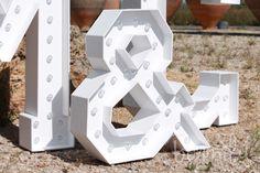 letras para boda con luz