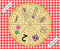 "This resource is a highly design package with 120 pages. Build a pizza game, is one of the favorite activities for children, they have to ""prepare"" them according to the number representations. This set includes 5 pizzas toppings to build (mushroom, bacon, pineapple, pepperoni and cheese), all in color. On each piece of the pizza is one way that the number can be represented. Yummy!"