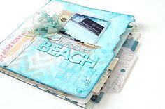 Heidi Swapp beach book with file folders.  So interesting!
