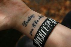 Pierce The Veil lyric tattoo