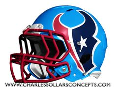 Mock Draft did a bunch of different helmets for each team but in the end only one helmet can be the primary helmet. If you want to see the other helmet ideas just click the link above the team… College Football Helmets, Nfl Football Players, Nfl Football Teams, Football Boys, New Helmet, Most Popular Sports, Nfl Logo, Houston Texans, National Football League