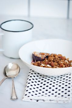 granola, yogurt and roasted plums from sunday suppers