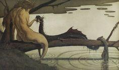 картины для взрослых от норвежского художника Louis Moe (1857-1945).