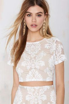 Mariana Embroidered Crop Top
