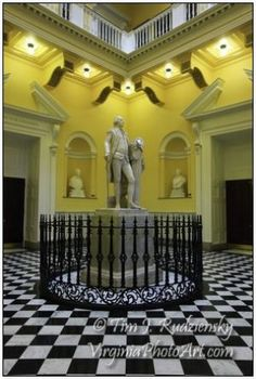 The fully restored Jefferson statue inside the Virginia Capitol Dome
