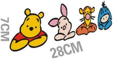 CUTE WINNIE THE POOH STICKERS: 2pcs Lovable Classic Memory Winnie the Pooh Onlooker Figures Window Stickers: Pet Supplies