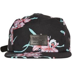 Floral 5 Panel Cap by Vans ($25) ❤ liked on Polyvore featuring accessories, hats, multi, floral 5 panel hat, floral print hat, 5 panel hat, 5 panel cap and five panel cap