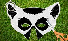 Lemur Halloween Mask Party Mask Printable PDF by theRasilisk, $3.99