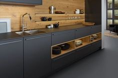 70 Marvelous Tiny House Kitchen Design Ideas If you have been dreaming about living in a tiny home, or whether you're presently working in your build, you have probably been watching for smart space-s Modern Kitchen Cabinets, Kitchen Flooring, Kitchen Furniture, Kitchen Decor, Kitchen Grey, Kitchen Modern, Gray Cabinets, Island Kitchen, Kitchen Wood
