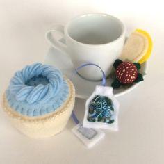 A personal favorite from my Etsy shop https://www.etsy.com/listing/176607204/felt-food-tea-set-felt-blueberry-vanilla