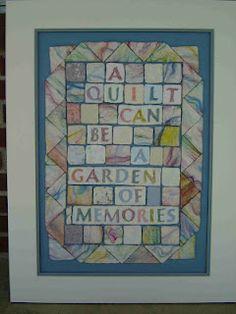 "silk and cotton fiber ""tiles"""