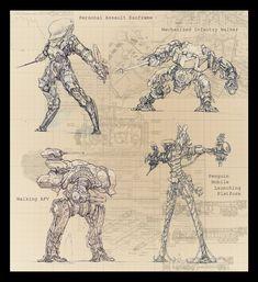 Full Metal Walkers by *IRIRIV on deviantART