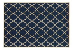 Marine Outdoor Rug, Navy