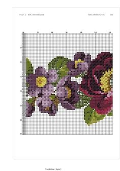 Embroidery Stitches, Hand Embroidery, Bargello, Diy And Crafts, Cross Stitch, Diagram, Baby Shower, Chart, Cross Stitch Flowers