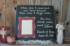 CUSTOM Wedding day picture Frame  Personalize for FREE. by invinyl, $28.99