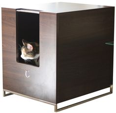 Modern Cat Designs Litter Box Hider. I think I need this for the new house.