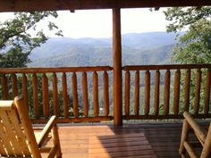 View from our cabin in the Smokey Mountain's breathtaking