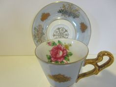 Japan Royal Halsey  Cup and Saucer by HeritageSisters on Etsy