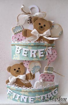 byMarleen: Etagère-kaart met beren