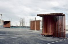 Gallery of Footbridge over the River Segre / Ravetllat Ribas Architects - 5 - Gallery of Footbridge over the River Segre / Ravetllat Ribas Architects – 5 - Urban Furniture, Street Furniture, Concrete Furniture, Urban Landscape, Landscape Design, Bus Stop Design, Bus Shelters, Shelter Design, Wood Architecture