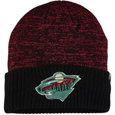 e168fcadf2f Men s Minnesota Wild Fanatics Branded Red Space Dye Cuffed Knit Hat