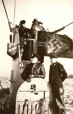 Uboot with the swastika nazi flag.