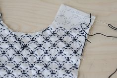 traditional Sashiko stitching was done without a pattern using the woven warp and weft threads as a guide for the geometric design.  Never knew that!  TUTE Sashiko Embroidery   Blog  