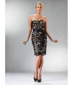 Black & Nude Lace Cocktail Dress Homecoming 2014 $199.99 Short