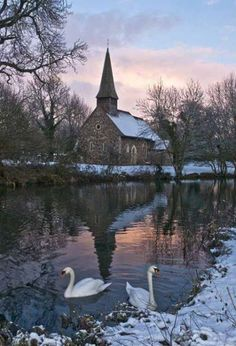 Winter in Ulting, Essex, England