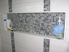 Caledon Tile Renovation, Custom Shower Shelf