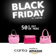 Black Friday  -  UP to 50% OFF – don't miss it! #instafashion #fashionablebags #motivafashion #handbags #quotes #Handbags #Photographer #SandipDas #purseforum #trend #vogue #instafashion #styleagram #instastyle #style #instagood #styleoftheday #lookoftheday #fashionshot #fashionstyle #bag #accessory #fashionista #outfit #quote #instafamous #chic #kelly #blackfriday #sale Fashion Bags, Black Friday, Vogue, Handbags, Chic, Outfit, Quotes, Accessories