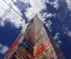 Students in Delaware created the world's tallest #LEGO tower, 112 feet tall and weighing almost a ton!