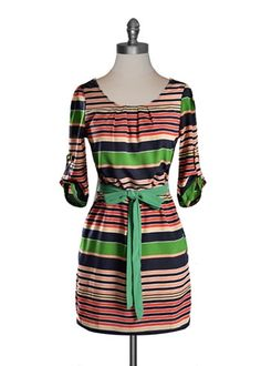 Preppy Stripe Dress