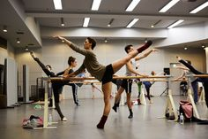 Dorothee Gilbert, Hugo Marchand and Germain Louvet of the Paris Opera Ballet